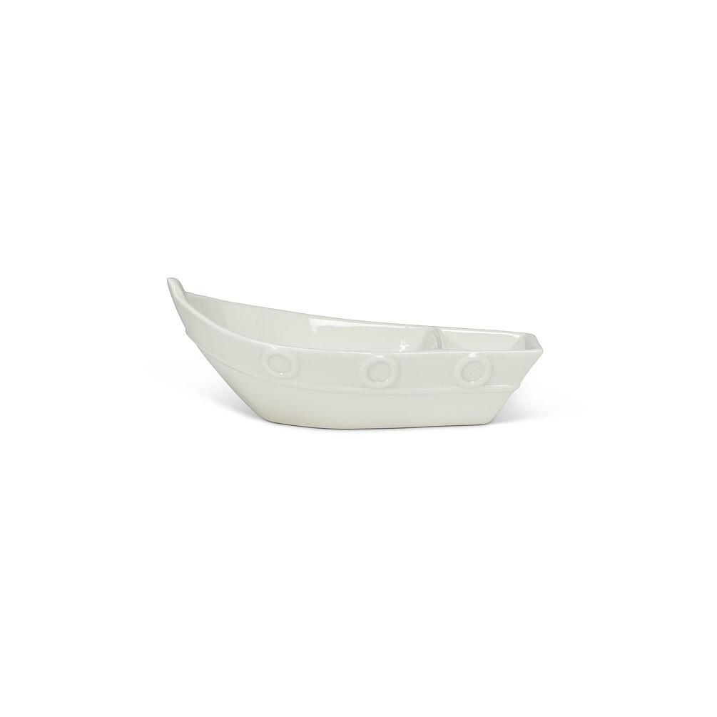 White Porcelain Divided Boat - Small (6