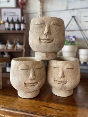 Cement Smile Face Planters