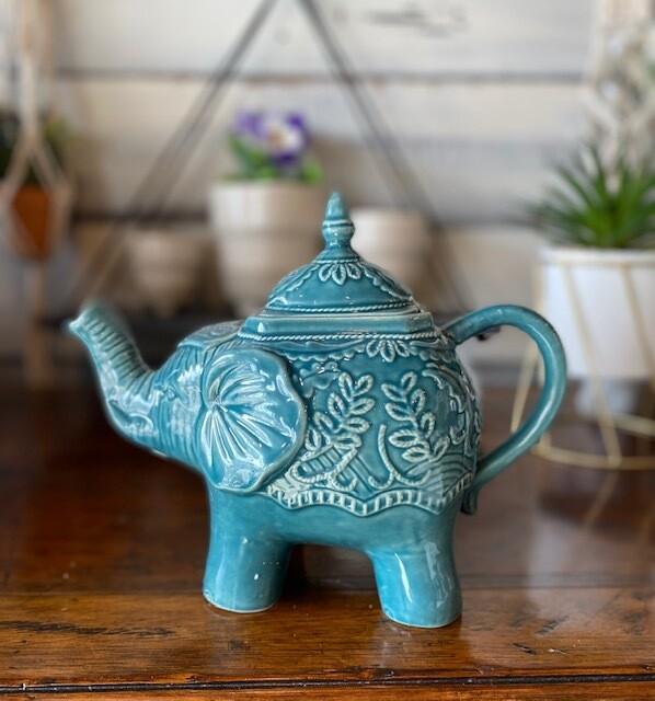 Ornate Elephant Tea Pot