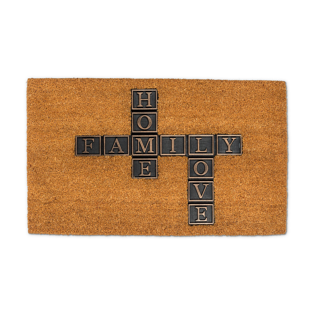 Family Home Love Coir Mat