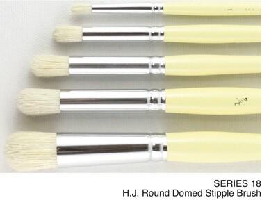 Round Domed Stipple Brushes