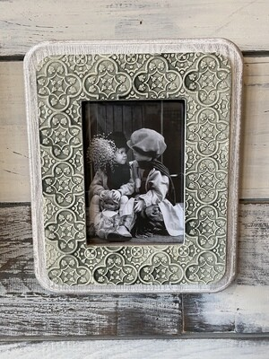 Wood Frame - Green and Grey