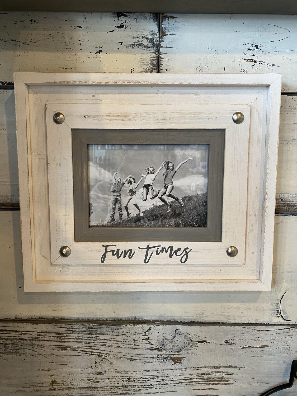 Fun Times Wooden White Frame