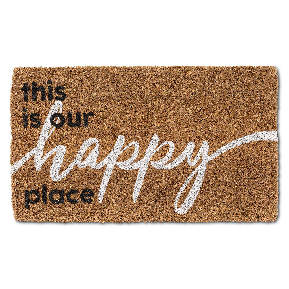 this is our happy place Coir Mat