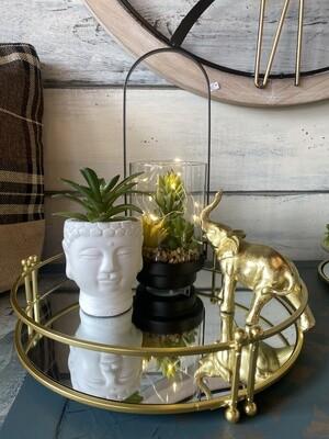 Gold Elephant Figurine