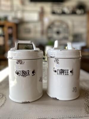 Coffee and Sugar Ceramic Jars