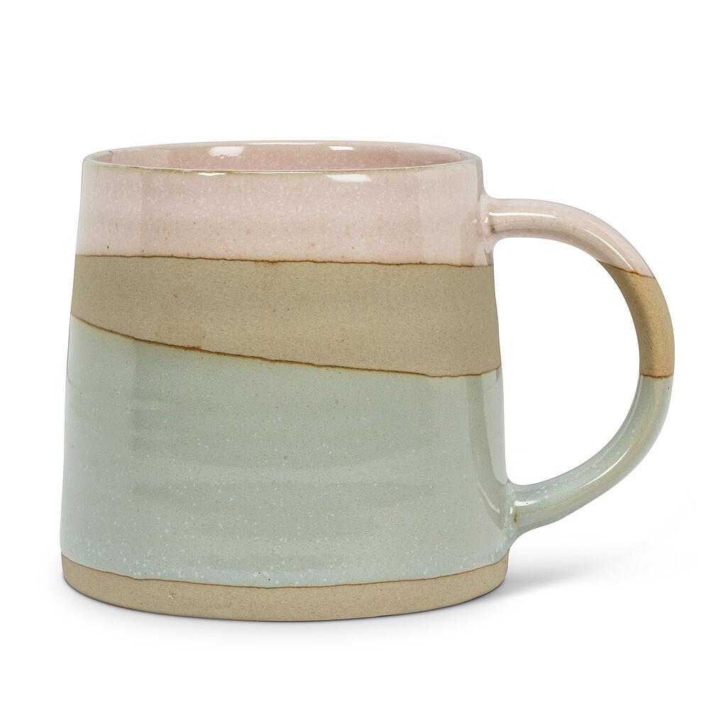 Mug - Pink/Blue Stoneware 14ox, 4