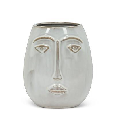 Modern Face Vase - Stoneware 6.5