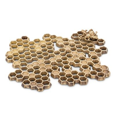 Honeycomb Trivet - Antique Brass