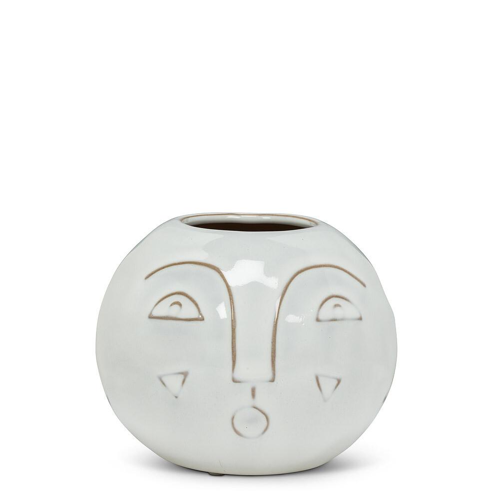Modern Face Vase - Stoneware 3.5