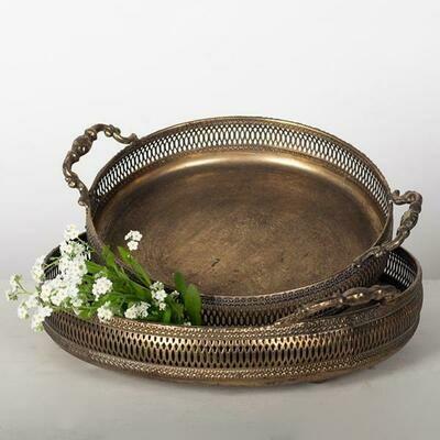 Metal Trays -Bronze