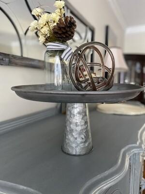Metal Pedestal Tray