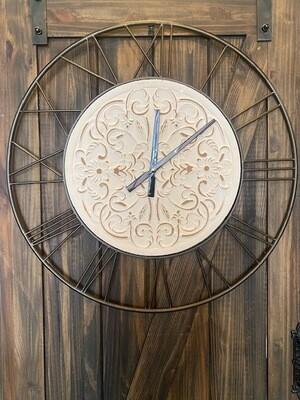 Floral Roman Numeral Clock