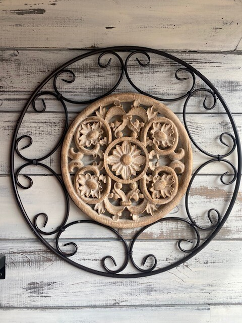 Wire and Wood Wall Art