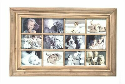 12 (5 x 7) Opening Collage Frame - Natural Wood