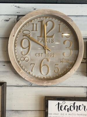 Wooden Carvings Wall Clock