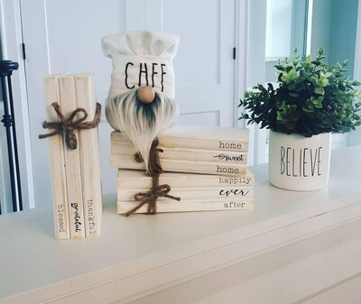 Rustic Faux Book Stack