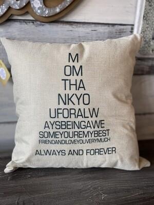 MOM pillow - beige