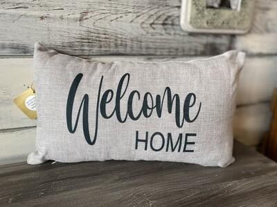 Welcome HOME rectangular pillow - grey