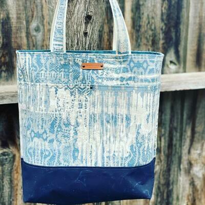Wool and Wax Tote Bag - Dark Blue