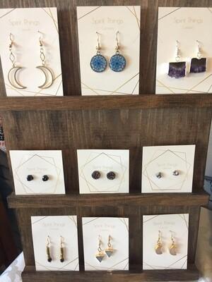 Earrings - 1/2 Moon open (top left)