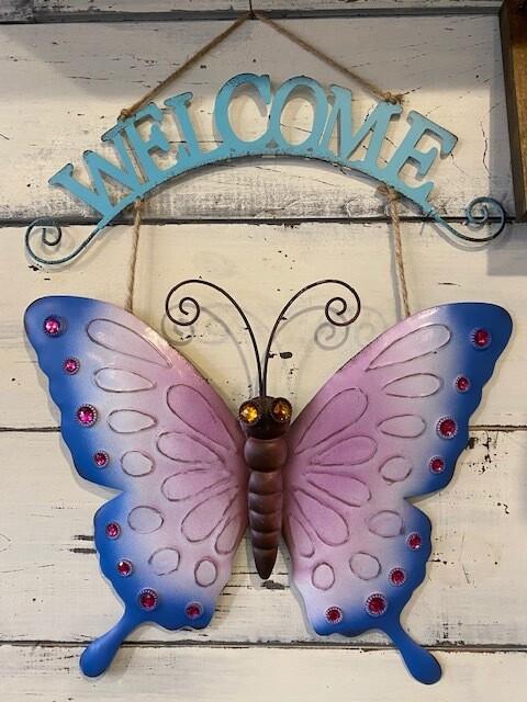 Butterfly Welcome Garden Art