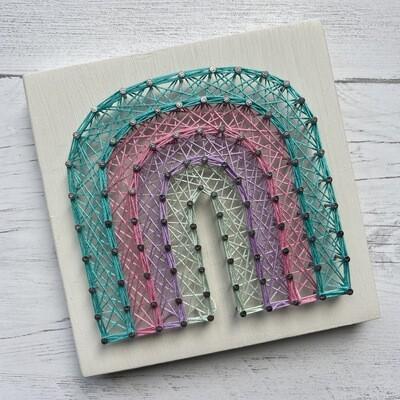 Rainbow String Art DIY Kit