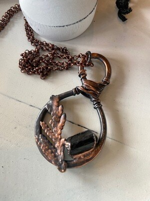 Copper with Black Tourmaline Necklace