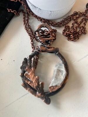 Copper with Quartz Necklace
