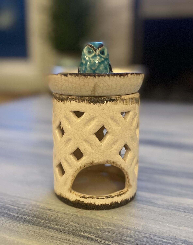 Owl tea light holder