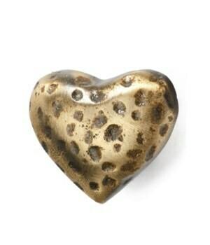 Knob - Hammered Iron Heart