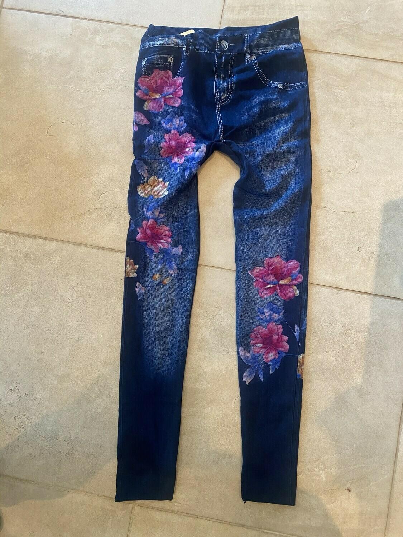 Leggings - Not Lined  Flower (One Size)
