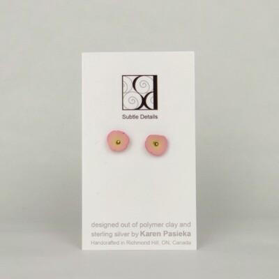 Stud Earrings - Light Pink
