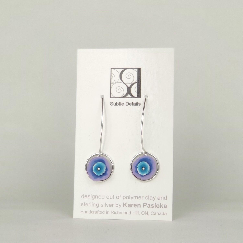 Drop Earrings - Purple and Blue