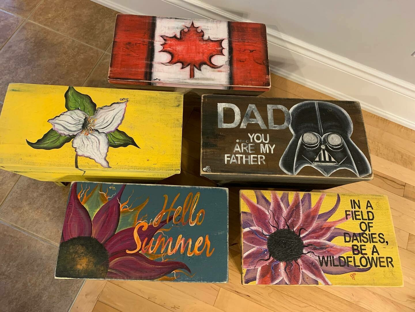 Hand Painted Stools