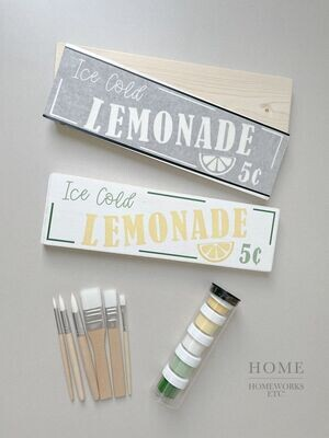 Lemonade 5 Cents DIY Kit - Sign and Stencil Only