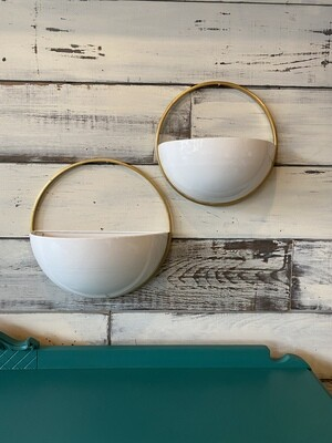 Golden Ring Wall Planter - Large