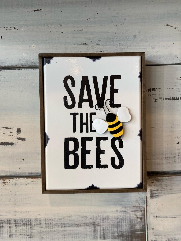 Save the Bees - MDF Shelf Block