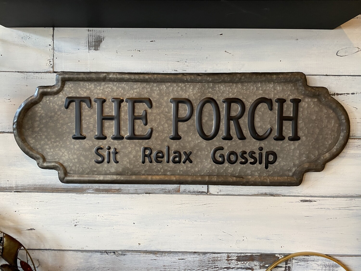 The Porch - Metal Galvanized Sign