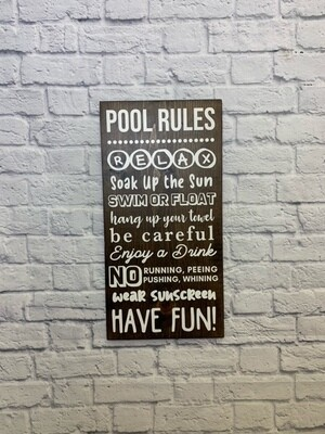 POOL RULES - Espresso Stain