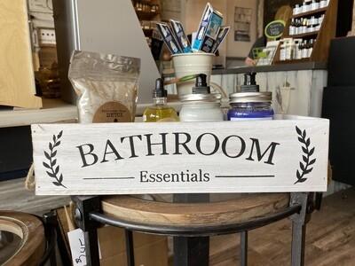 Bathroom Essentials -  wood box
