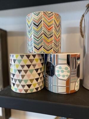 Ceramic pot s - geometric - 3 pieces
