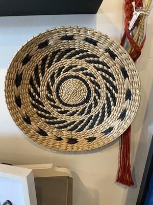 Round Wicker Weave wall art