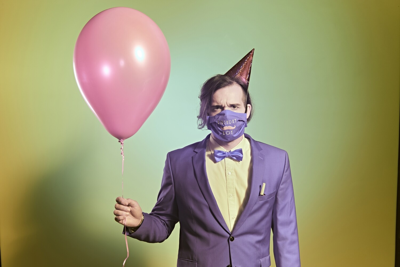 "Stoffmaske ""Birthday Boy"" - Farbe wählbar"
