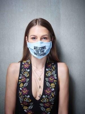 Stoffmaske Pessimist - Farbe wählbar