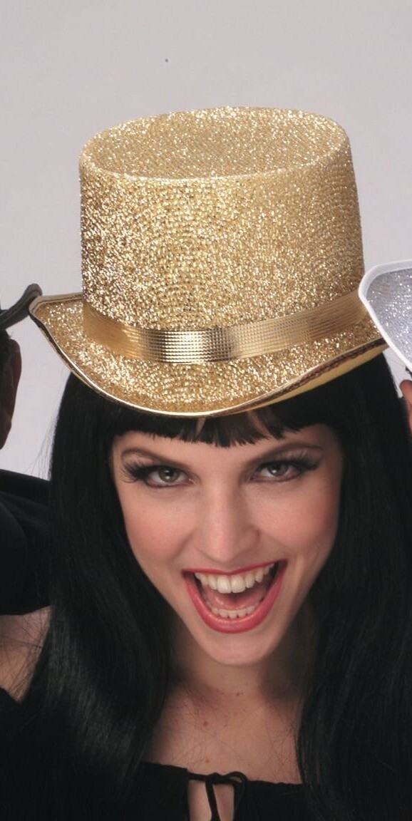 Gold Lame Top Hat