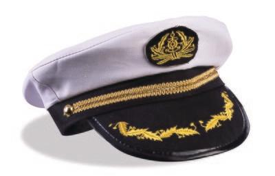 Silver Sequin Trimmed Captains Hat