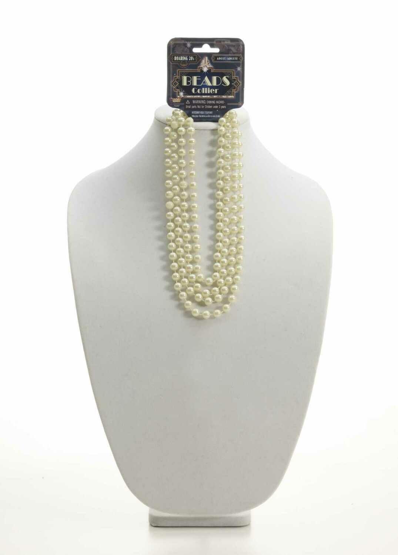 "Roaring 20's Beige 72"" Beads Necklace"