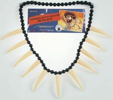 Bone & sabertooth necklace