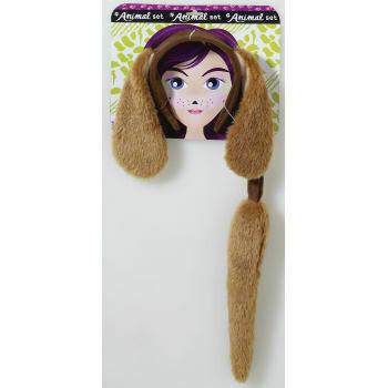 Long ear brown dog kit - child